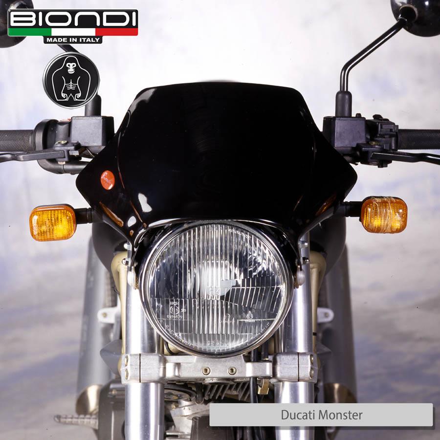 8010036 DUCATI Monster Dark nero su moto front