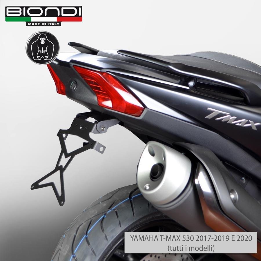 Portatarga Targa inclinato universale in alluminio moto scooter maxi sportive
